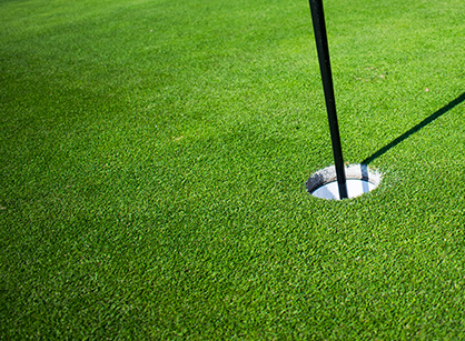 Green golfbana